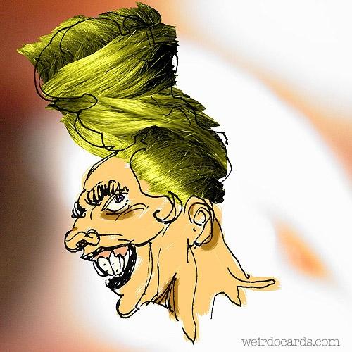 Green Hairdo eCard